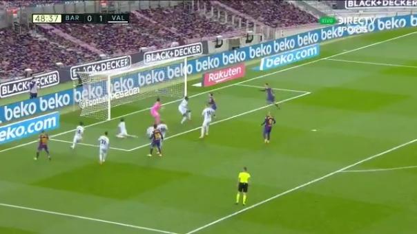 Gol de Lionel Messi ante Valencia