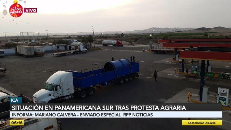 Este es el panorama en la Panamericana Sur.