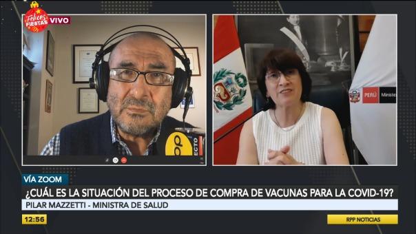 Ministra Pilar Mazzetti en entrevista con RPP Noticias.
