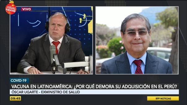 Entrevista a Óscar Ugarte, exministro de Salud.