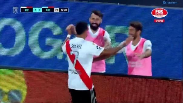 River Plate 2-0 Arsenal: así fue el gol de M. Suárez