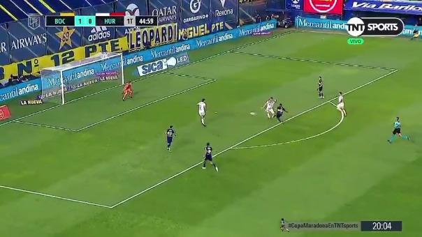 Boca Juniors 2-0 Huracán: así fue el gol de Wanchope Ábila