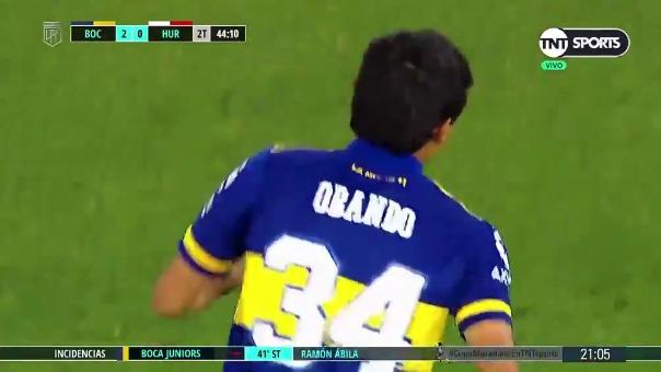 Boca Juniors 3-0 Huracán: así fue el gol de Obando