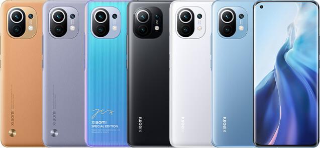 Las diferentes ediciones del Mi 11 de Xiaomi.