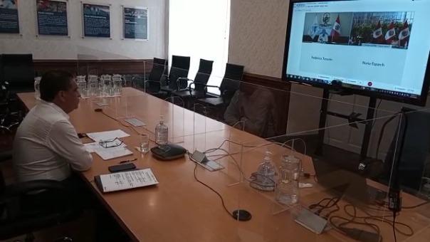 El gobernador de La Libertad, Manuel Llempén, participó en la reunión del Consejo de Ministros realizada al mediodía.