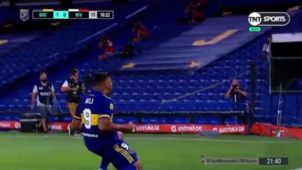 Boca Juniors 1-0 River Plate: así fue el gol de Wanchope Ábila