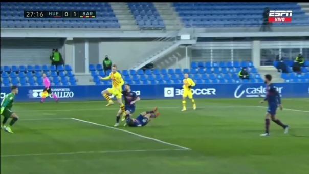 Barcelona 1-0 Huesca: así fue el gol de Frenkie de Jong