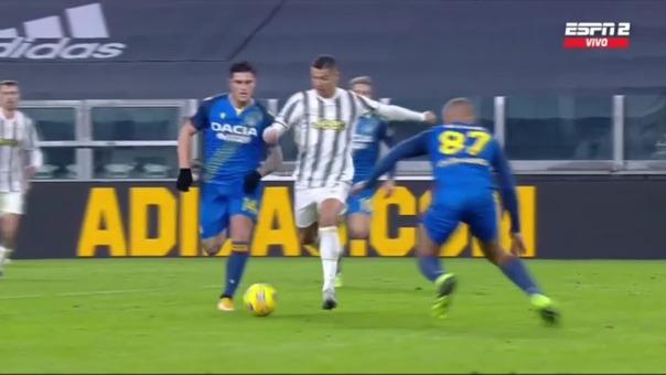 Juventus 1-0 Udinese: así fue el gol de Cristiano Ronaldo