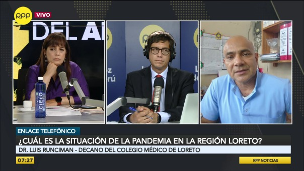 Entrevista al doctor Luis Runciman, decano del Colegio Médico de Loreto.