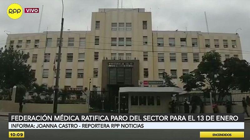 Los médicos reclaman la salida de la ministra Pilar Mazzetti.