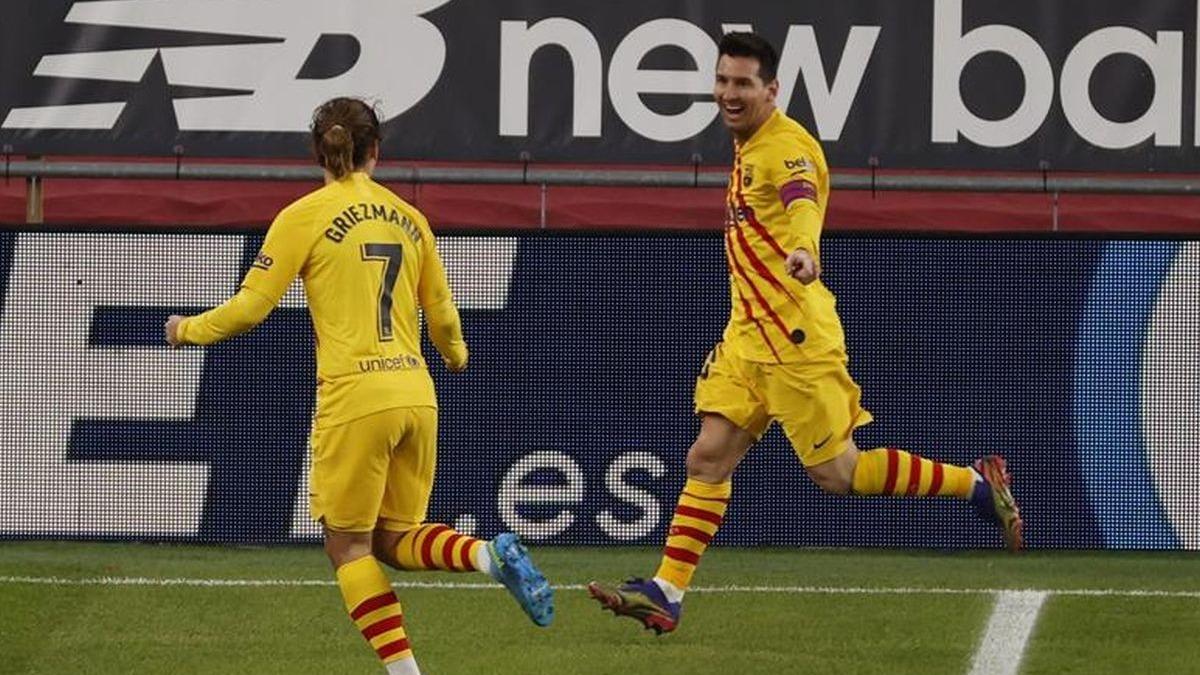 Este fue el 3-1 del Barcelona ante Athletic Club.