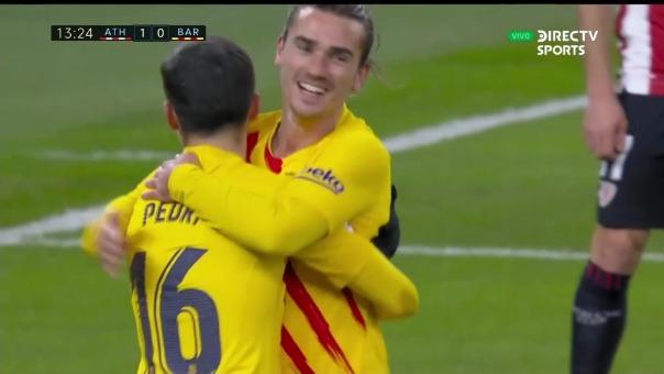 Barcelona 1-1 Athletic Club: así fue el gol de Pedri