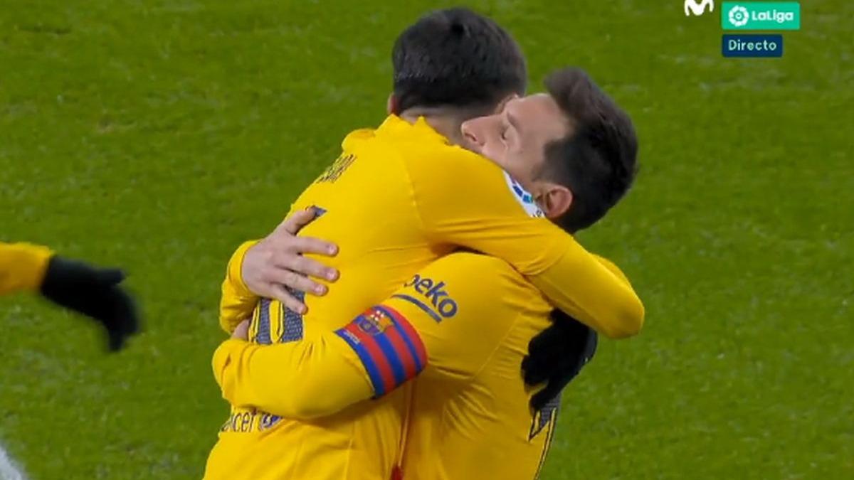 El 2-1 de Messi en el Barcelona vs. Athletic.