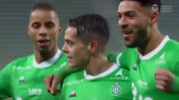 Romain Hamouma convirtió el 1-0 de Saint Étienne sobre PSG