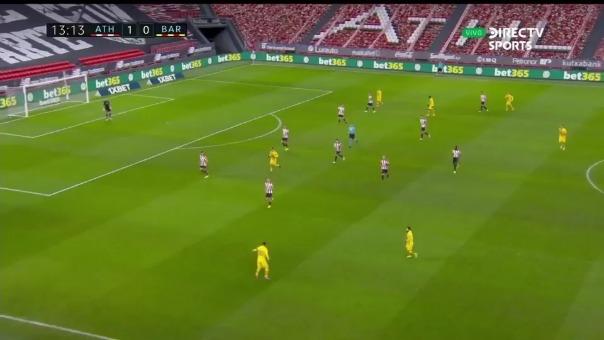 Pedri marcó el 1-1 ante Athletic de Bilbao