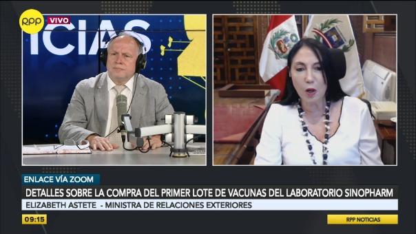 Canciller dio detalles del proceso de compra de las vacunas.