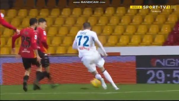 Josip Ilicic anotó un golazo para el 0-1 de Atalanta sobre Benevento