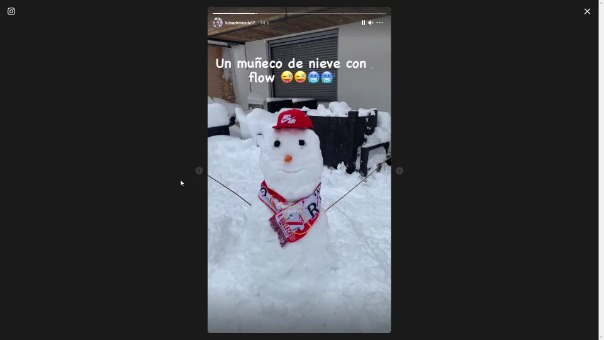 La nieve sorprendió a Luis Advíncula