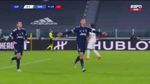 Cristiano Ronaldo anotó el 3-1 ante Sassuolo y rompió este récord