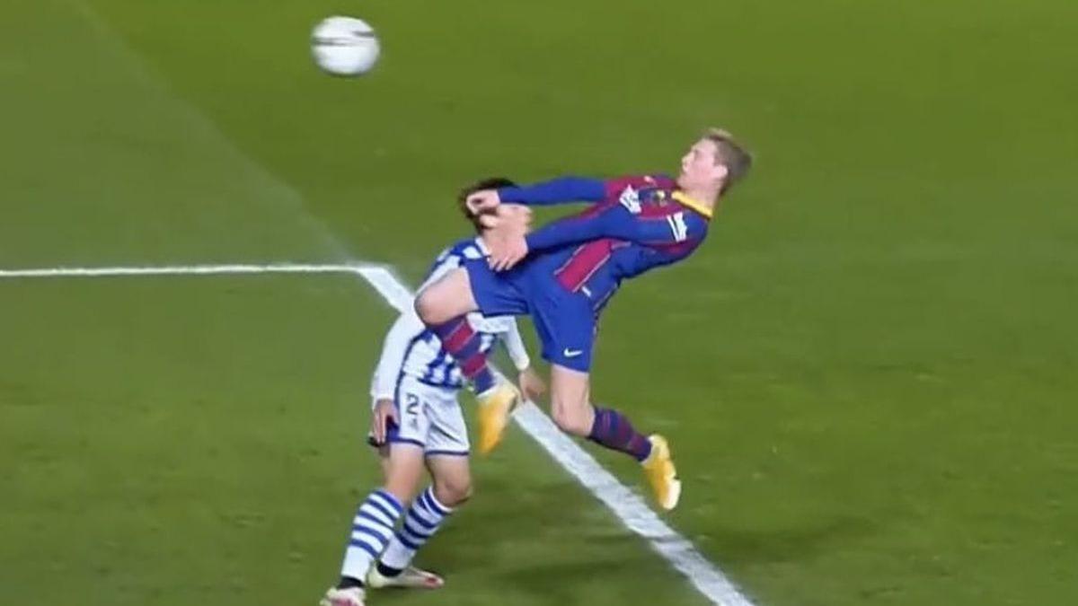 Así fue el gol de De Jong en el Barcelona vs. Real Sociedad.