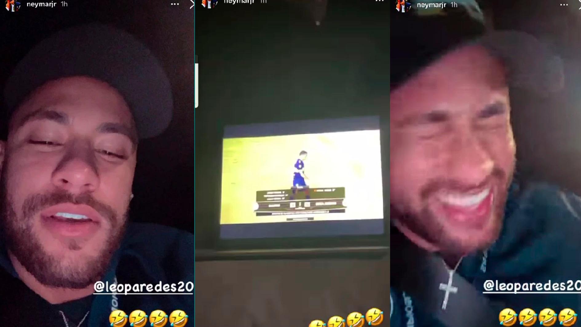 Neymar le ganó una apuesta a Leo Paredes.