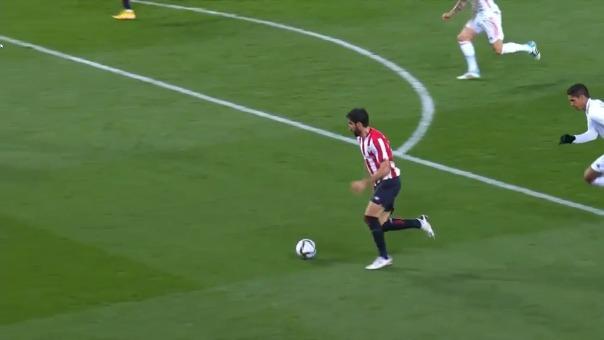 Raúl García convirtió el 1-0 de Athletic Club ante el Real Madrid