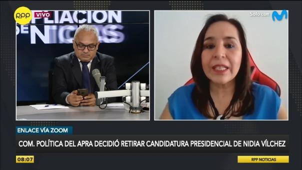 Nidia Vílchez cuestionó decisión que afecta al APRA.