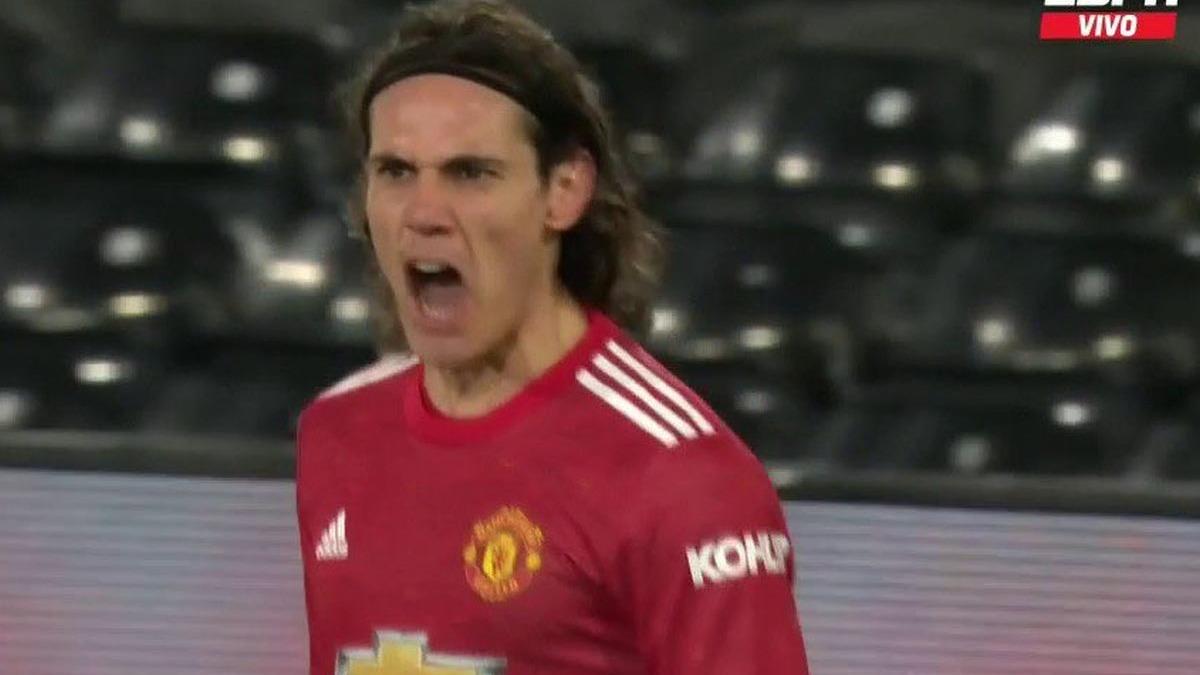 Así fue el gol de Edinson Cavani en el United vs. Fulham.