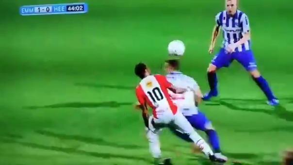 Sergio Peña marcó su quinto gol en FC Emmen