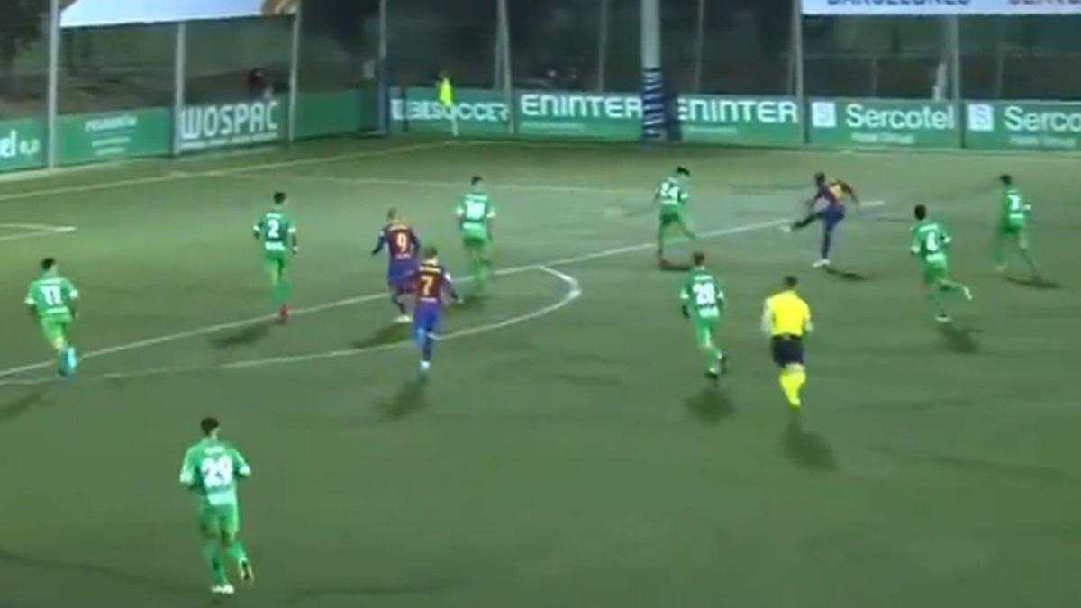Así fue el gol de Dembélé en el Barcelona vs. Cornellá.