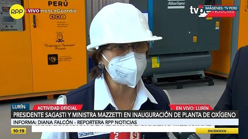 Pilar Mazzetti dijo que aprovecharse de la situación y subir el precio del oxígeno medicinal es un crimen.
