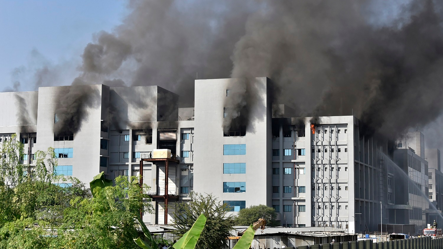 Incendio en el Serum Institute of India