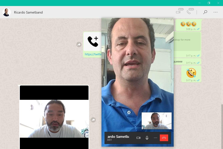 Los periodistas Guillermo Tomoyose y Ricardo Sametband mantuvieron esta conversación en el entorno de WhatsApp par Windows 10