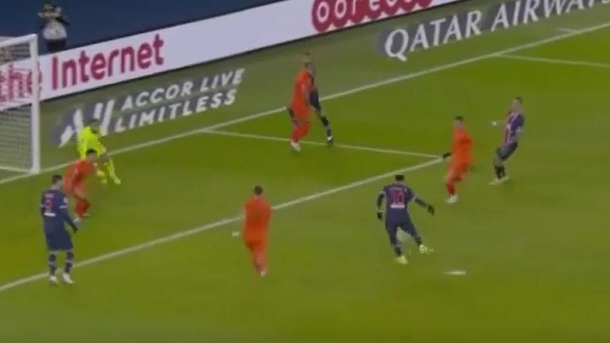 El gol de Neymar en el PSG vs. Montpellier.