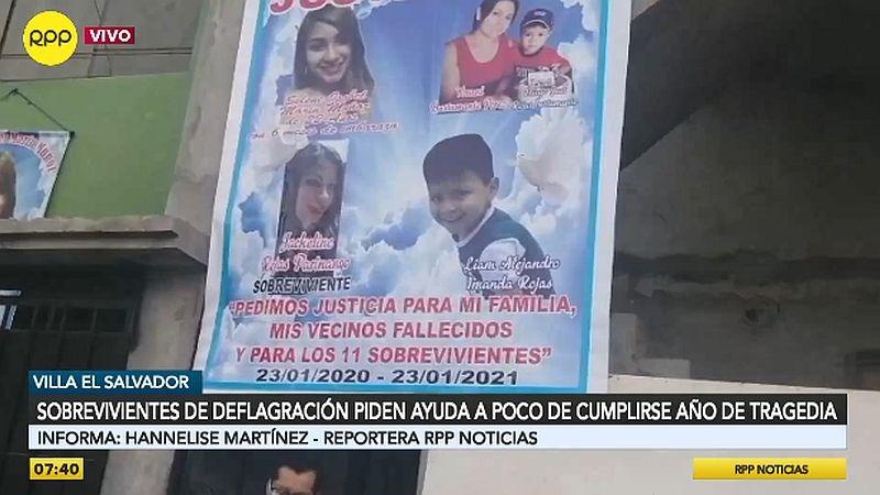 Este sábado se cumple un año de tragedia en Villa El Salvador.