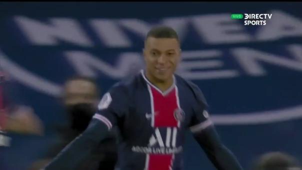 Kylian Mbappé anotó el 1-0 en el PSG vs. Montpellier