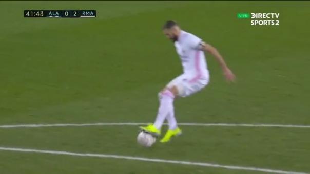 Real Madrid 2-0 Alavés: así fue el gol de Benzema
