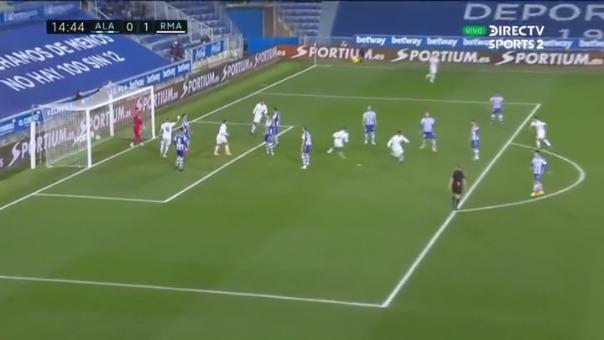 Real Madrid  1-0 Alavés: así fue el gol de Casemiro