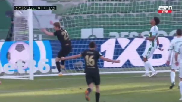 Barcelona 2-0 Elche: así fue el gol de Riqui Puig
