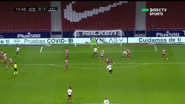 Atlético de Madrid vs. Valencia: así fue el gol de Uros Racic