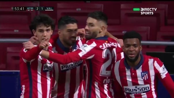 Atlético de Madrid 2-1 Valencia: así fue el gol de Luis Suárez