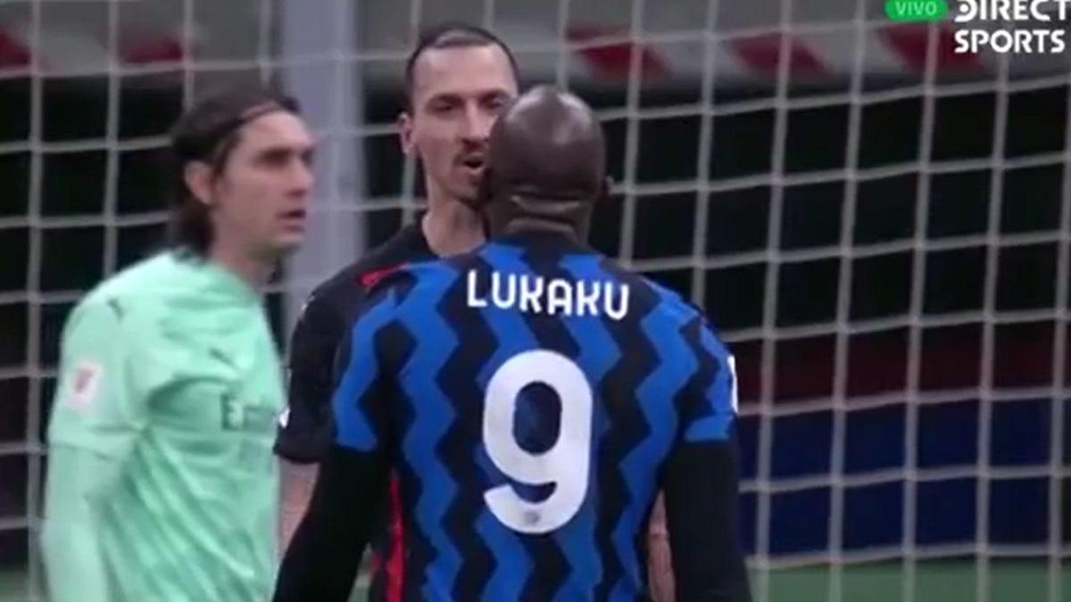 Zlatan vs. Lukaku discutieron así por la Copa Italia.