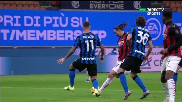 Inter Milan 0-1 AC Milan: así fue el gol de Zlatan Ibrahimovic