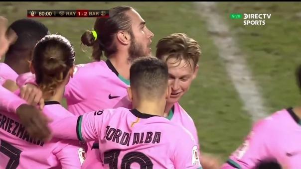 Barcelona vs. Rayo Vallecano: así fue el gol de Frenkie de Jong
