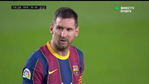 Lionel Messi marcó un golazo de tiro libre