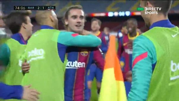 Antoine Griezmann marcó el segundo gol del Barcelona ante Athletic Bilbao