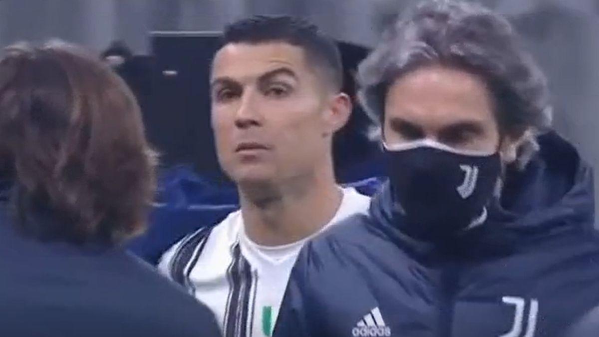 Este fue el momento entre Cristiano Ronaldo y Andrea Pirlo.