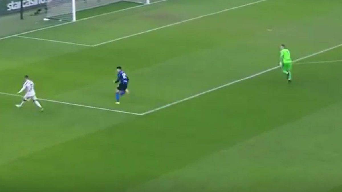 El gol de Cristiano Ronaldo con Juventus frente al Inter.