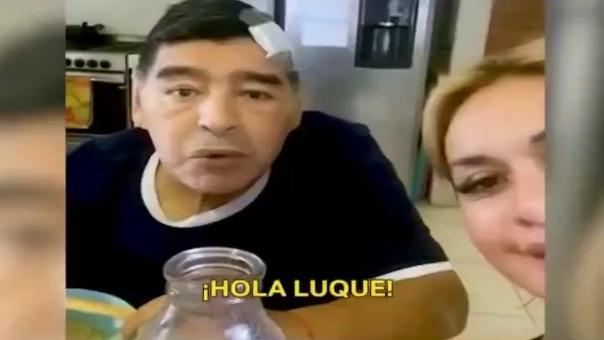Diego Maradona tras ser operado.