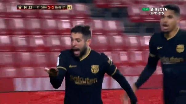 Granada 2-2 Barcelona: así fue el gol de Jordi Alba.